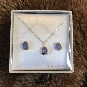 Tahari matching necklace and earrings
